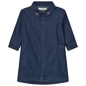 Tinycottons Girls Dresses Blue Denim Shirt Dress