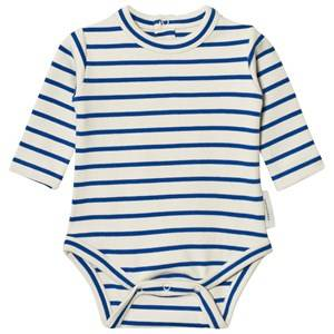Tinycottons Unisex All in ones Beige Stripes Long Sleeve Baby Body Beige/Blue