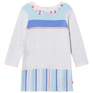 Billieblush Girls Dresses Multi Multi Patterned Knit Pom Pom Dress