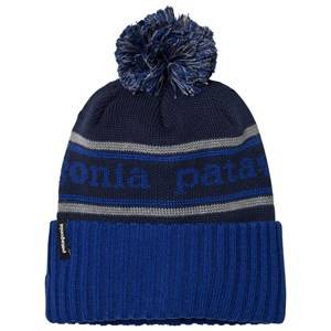 Patagonia Unisex Headwear Navy K´s Powder Town Beanie Park Stripe Navy Blue