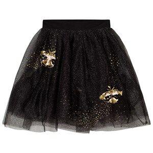 Billieblush Girls Skirts Black Black Gold Glitter Embroidered Tulle Skirt