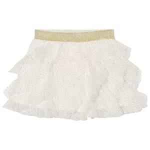 Billieblush Girls Skirts Cream Cream Gold Glitter Ruffled Tutu Skirt