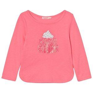 Billieblush Girls Tops Pink Pink Jelly Glitter Tee