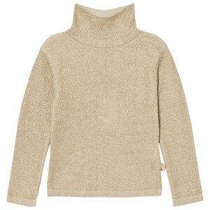 Billieblush Girls Jumpers and knitwear Gold Gold Lurex Turtle Neck Sweater
