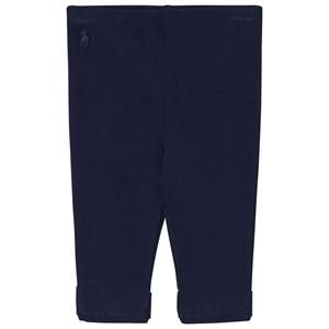 Image of Ralph Lauren Girls Jumpers and knitwear Navy Bow Back Jersey Leggings Navy
