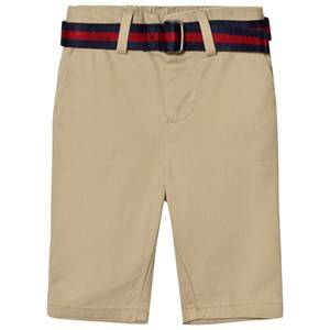 Ralph Lauren Boys Bottoms Beige Belted Stretch Classic Chino