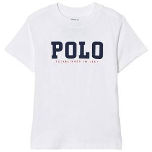 Image of Ralph Lauren Boys Tops White Slub Cotton Jersey Tee White