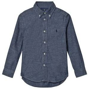 Ralph Lauren Boys Tops Blue Dark Blue Chambray Shirt