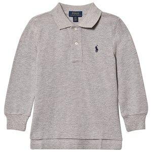 Ralph Lauren Boys Jumpers and knitwear Grey Basic Long Sleeve Polo Grey