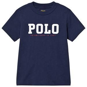 Image of Ralph Lauren Boys Tops Blue Slub Cotton Jersey Tee Blue