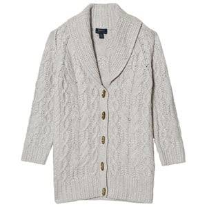 Image of Ralph Lauren Girls Jumpers and knitwear Grey Grey Cable Knit Chunky Cardigan