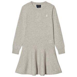 Ralph Lauren Girls Dresses Grey Grey Wool Sweater Dress