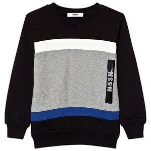 MSGM Boys Jumpers and knitwear Black Black Colorblock Logo Sweatshirt