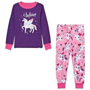 Hatley Girls Nightwear Purple Purple Unicorn Print Pyjamas