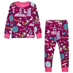 Hatley Girls Nightwear Purple Purple Tea Party Print Pyjamas