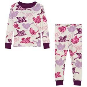 Hatley Girls Nightwear Cream Cream Birds Print Pyjamas