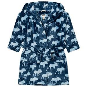 Hatley Boys Nightwear Blue Unisex Moose Print Bathrobe
