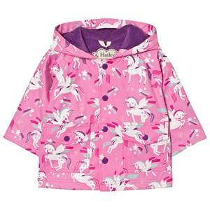 Hatley Girls Coats and jackets Pink Unicorn Print Raincoat Pink