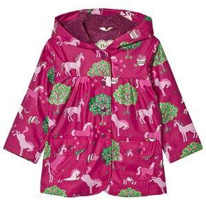 Hatley Girls Coats and jackets Pink Horse and Apple Print Raincoat Pink
