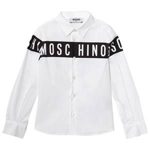 Moschino Kid-Teen Boys Tops White White/Black Moschino Branded Shirt