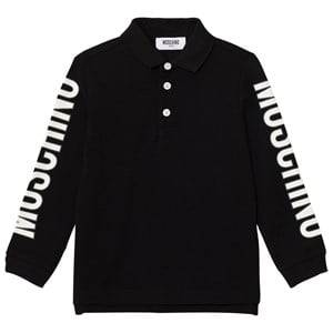 Moschino Kid-Teen Boys Tops Black Black Branded Sleeve Polo