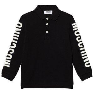 Moschino Kid-Teen Boys Tops Black Black Branded Sleeve Polo