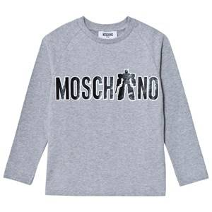 Moschino Kid-Teen Boys Tops Grey Grey Transformer Branded Print Tee