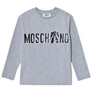 Moschino Kid-Teen Boys Tops Grey Grey Transformer Branded Print Tee