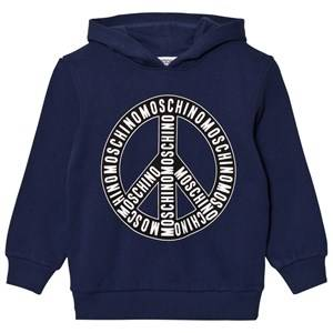 Moschino Kid-Teen Boys Jumpers and knitwear Navy Navy Branded Peace Hoodie
