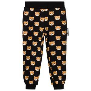 Moschino Kid-Teen Girls Bottoms Black Black All Over Bear Print Sweatpants