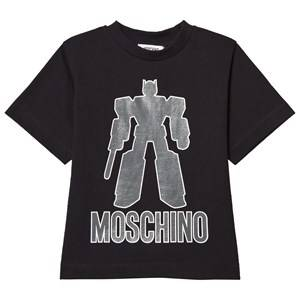 Moschino Kid-Teen Boys Tops Black Black Transformers Tee