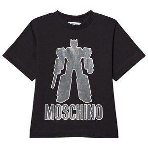 Moschino Kid-Teen Boys Tops Black Black Transformers Tee