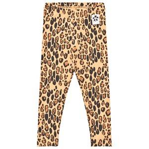 Mini Rodini Unisex Bottoms Beige Basic Leopard Leggings Beige