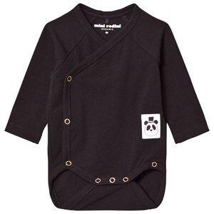 Mini Rodini Unisex All in ones Black Basic Wrap Body Black