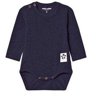 Mini Rodini Unisex All in ones Blue Basic Baby Body Navy