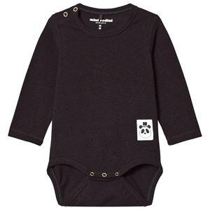 Mini Rodini Unisex All in ones Black Basic Baby Body Black