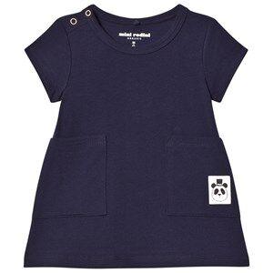 Mini Rodini Girls Dresses Blue Basic Dress Navy