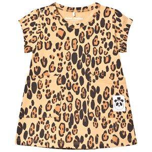 Mini Rodini Girls Dresses Beige Basic Leopard Dress Beige