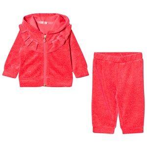 Billieblush Girls Clothing sets Pink Pink Glitter Velour Tracksuit