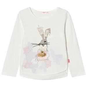 Billieblush Girls Tops White White Beaded Bunny Tee