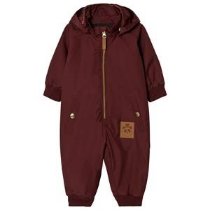 Mini Rodini Unisex Coveralls Red Pico Baby Baby Coverall Burgundy