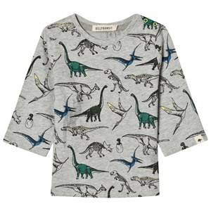 Billybandit Boys 1 Tops Grey Grey Dinosaur Tee