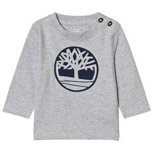Timberland Boys Tops Grey Grey Tree Logo Tee