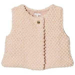 Image of Chloé Girls Coats and jackets Pink Pink Textured Knitted Vest