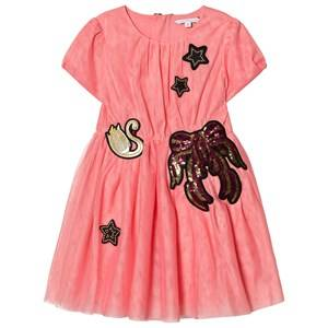 Image of Little Marc Jacobs Girls Dresses Pink Pink Embroidered Tulle Dress