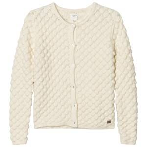 Image of Carrément Beau Girls Jumpers and knitwear Cream Cream Textured Knit Cardigan