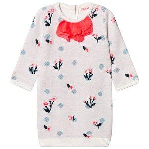 Image of Billieblush Girls Dresses White White Knit Floral Dress