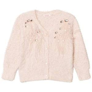 Billieblush Girls Jumpers and knitwear Pink Pale Pink Feathered Cardigan
