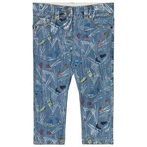Stella McCartney Kids Girls Bottoms Blue Blue Scribble and Skates Lohan Jeans