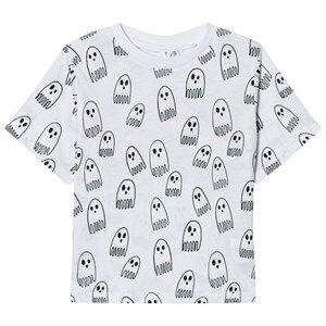 Stella McCartney Kids Boys Tops Grey White Ghost Print Tee